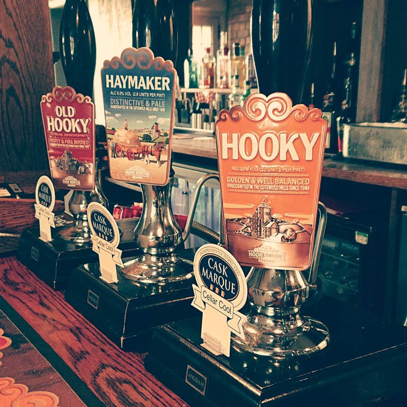 Local Ales at the Kings Head Napton
